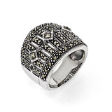 Marcasite Ring Sterling Silver QR1381-6