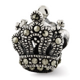 Reflections Marcasite Crown Bead Sterling Silver QRS2883
