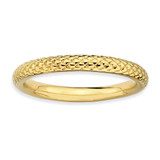 Gold-plated Cable Ring Sterling Silver QSK202-10