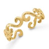 Swirl Toe Ring 14k Gold D1967