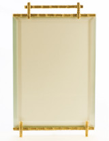 La Paris Bamboo 4 x 6 Inch Brass Picture Frame - Vertical