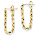 Hollow Rope Earrings 14k Gold TH553