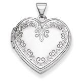 Heart Locket 14k White Gold XL189