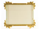 La Paris Bow Corners 4 x 6 Inch Brass Picture Frame - Horizontal