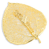 Aspen Leaf Pin 24k Gold Dipped BF1375