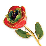 Gypsy Rainbow Rose Lacquer Dipped Gold Trimmed GM3742