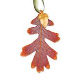 Oak Leaf 24k Dipped Acorn Decorative Leaf Iridescent Copper Dipped GM3897