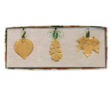 Aspen, Oak & Maple Leaves Set 24k Gold Dipped GM3917