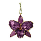 Purple Cattleya Orchid Ornament Lacquer Dipped GM8312