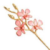 Pink Orchid Stem Lacquer Dipped Gold Trimmed GM8314