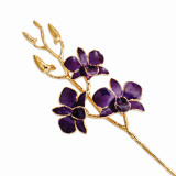 Purple Dendrobium Orchid Stem Lacquer Dipped Gold Trimmed GM8322