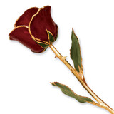 Burgundy Rose Lacquer Dipped Gold Trimmed GP9343