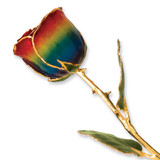 Rainbow Rose Lacquer Dipped Gold Trimmed GP9351