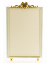 La Paris French Heart 4 x 6 Inch Brass Picture Frame - Vertical
