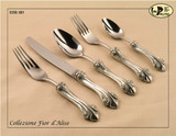 ValPeltro Fior d Alise Serving Spoon Pewter