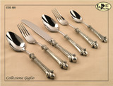 ValPeltro Giglio 2 Piece 2 PC Salad Serving Set Pewter