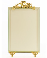 La Paris French Stand 5 x 7 Inch Brass Picture Frame - Vertical