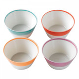 Royal Doulton 1815 Bright Colors Mixed Patterns Cereal Bowls Set of 4