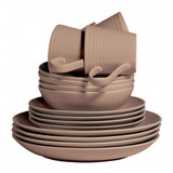 Royal Doulton Maze Taupe 16-Piece Set