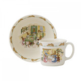 Royal Doulton Classic Nurseryware 2-Piece Infant Set Bowl, 1 Handled Mug