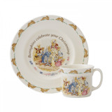 Royal Doulton Classic Nurseryware 2-Piece Christening Set Plate, 1 Handled Mug