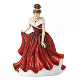 Royal Doulton Birthstone Petites January - Garnet, 6.9 Inch