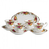 Royal Albert Old Country Roses 9-Piece Tea Set Completer