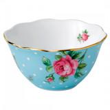Royal Albert Tea Party Polka Blue 4 Inch Bowl
