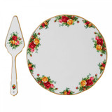 Royal Albert Old Country Roses Tea Party Cake Plate & Server