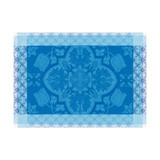 Le Jacquard Francais Azulejos Blue china Placemat 21 x 15 Inch