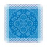 Le Jacquard Francais Azulejos Blue china Napkin 22 x 22 Inch