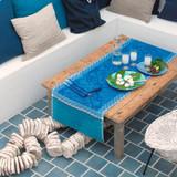 Le Jacquard Francais Azulejos Blue china Runner 22 x 79 Inch