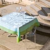 Le Jacquard Francais Jardin Royal Blue fountain Small Square Tablecloth 47 x 47 Inch