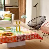 Le Jacquard Francais Origami Multico Tablecloth 55 x 89 Inch