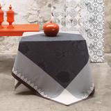 Le Jacquard Francais Palais Persan Charcoal Tablecloth 69 x 98 Inch