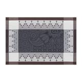 Le Jacquard Francais Palais Persan Charcoal Placemat 21 x 15 Inch