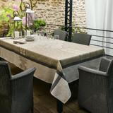 Le Jacquard Francais Siena Taupe Tablecloth 69 x 98 Inch