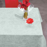 Le Jacquard Francais Tivoli Mist Tablecloth 69 Inch