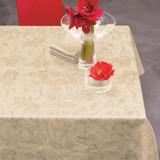 Le Jacquard Francais Tivoli Wheat Tablecloth 94 x 94 Inch