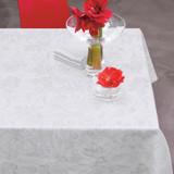 Le Jacquard Francais Tivoli White Tablecloth 94 x 94 Inch