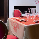 Le Jacquard Francais Venezia Cornelian Tablecloth 69 x 126 Inch