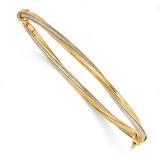 Twisted Bracelet 14k Gold Polished Glitter Infused DB578