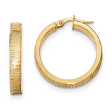 Hoop Earrings 14k Gold Diamond-cut TF879