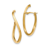 Oval Post Earrings 14k Gold Polished TH729