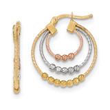 Hoop Earrings 14k Tri-color Golded TH762