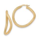 Hoop Earrings 14k Gold Textured TH840