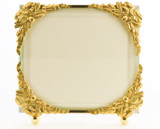 La Paris Ribbon Corners 3.5 x 5 Inch Brass Picture Frame - Horizontal
