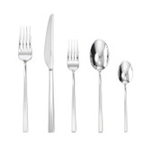 Sambonet linea q 5 piece place setting solid handle - 18/10 stainless steel MPN: 52530-93