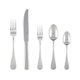 Sambonet baguette 5 piece place setting solid handle - silverplated on 18/10 stainless steel MPN: 52786-93