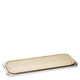 Sambonet linear rectangular tray with cutting board 18 7/8 x 7 1/2 inch - 18/10 stainless steel MPN: 56820-68